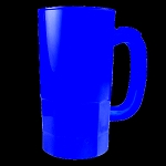 Translucent Mug 14oz.- Blue
