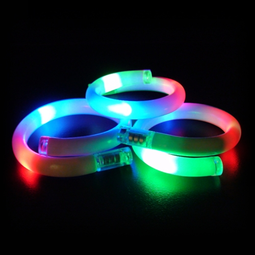 Led Flashing Tube Bracelet With 3 Lights Sureglow Com