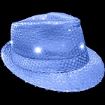 Flashing Fedora- Blue
