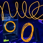 EL Wire String Light: Orange