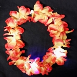 Fire Orange LED Flashing Hawaiian Leis