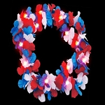 Flashing Leis- Red/White/Blue