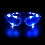 Flashing Sunglasses - Blue