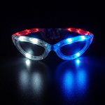 Flashing Sunglasses- Red/White/Blue