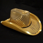 Gold LED Flashing Cowboy Hat