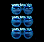 Happy New Years Shutter Glasses - Blue