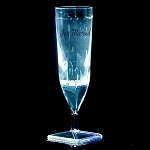Liquid Activated Light-Up Champagne Flutes White: Just Married