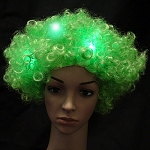 Green Flashing Wig