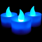 LED Flicker Candle: Blue