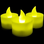LED Flicker Candle: Yellow