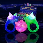 Light Up Jelly Spike Ring- 24 Pack