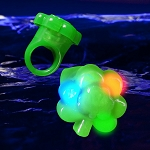 LED Jelly Shamrock Rings