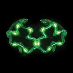 LED Light Up Shamrock Glasses