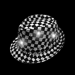 Flashing Fedora: Checkered with White Lights
