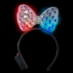 LED Hair Bow, Transparent
