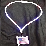 Light Up Patriotic Flag LED Pendant Necklace Lanyard