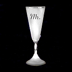 Light Up Champagne Cup White- Mr.
