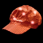 Newsboy Hat Red with LED lights