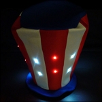 Patriotic LED Stove Hat