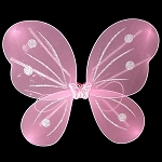 LED Flashing Butterfly/Fairy Wings - Pink