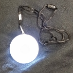 Round Flashing LED Necklace - White LED