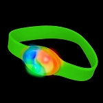 LED Flashing Silicone Bracelet, Green