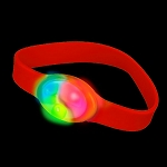 LED Flashing Silicone Bracelet, Red