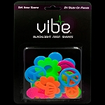 Blacklight Reactive Neon Sixties Pieces - 24 Piece Set
