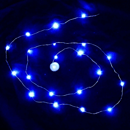 String Lights Blue : Waterproof LED String LED Light - Blue Sureglow.com