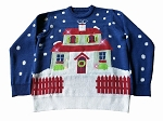 Light Up, Ugly Christmas Sweater: House With Too Many Lights