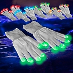 White LED Gloves