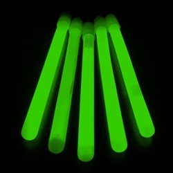 "6"" Slim Glow Sticks- Green (50-Pack)"