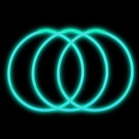 "Aqua 22"" Glow Necklaces - Premium (50-Pack)"