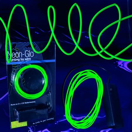 LED EL Wire String Lights Green | EL Wire Lighting | SureGlow.com