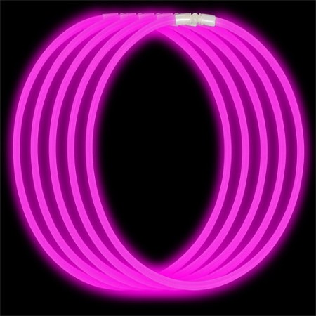 Economy Glow Necklace - Pink (50-Pack)