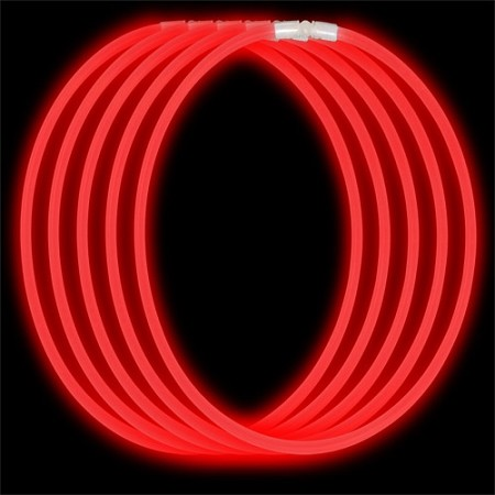 Economy Glow Necklace - Red (50-Pack)