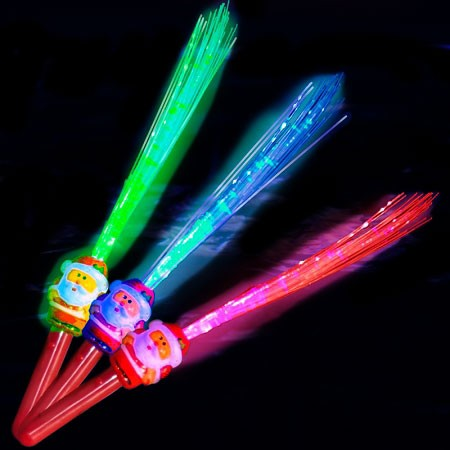 LED Fiber Optic Santa Wand