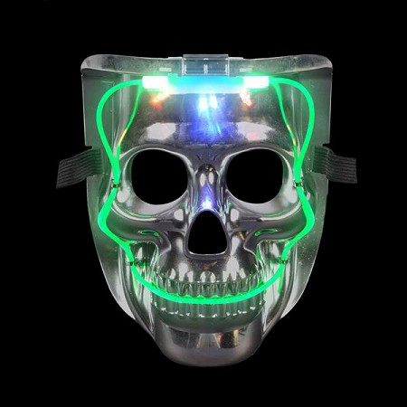 "8"" Light Up Skull Mask"