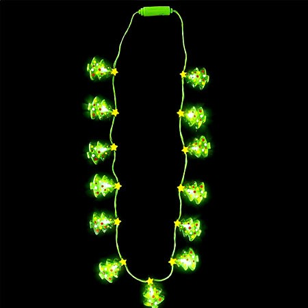 Light Up Christmas Tree Necklace