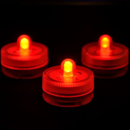 Red Waterproof Tea Lights-12 Pack