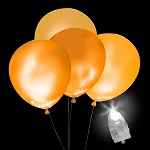 Light-Up Orange Balloons, White Light with Orange Balloons (5-pack)
