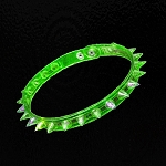 LED Spike Choker Necklace - Green
