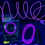 EL Wire String Light: Purple