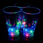 Flashing 16 oz Pint Tumbler Glass