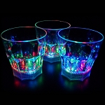 Liquid Activated Light Up 10 oz Whiskey Rocks Glass