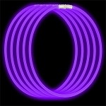 Economy Glow Necklace - Purple (50-Pack)