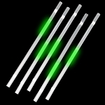 Green Glow Straws (25-Pack)
