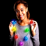 LED Jingle Bell Christmas Necklace