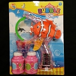 Flashing Clown Fish Bubble Gun - 2 Bottles