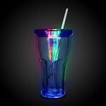 LED Double Wall Cola Cup- Blue